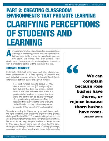 Page 16 of Clarifying Perceptions of Students and Learning