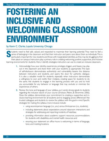 Page 21 of Fostering an Inclusive and Welcoming Classroom Environment