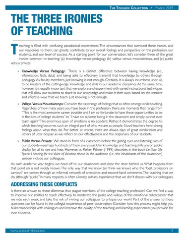 Page 6 of The Three Ironies of Teaching