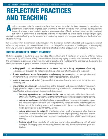 Page 9 of Reflective Practices and Teaching