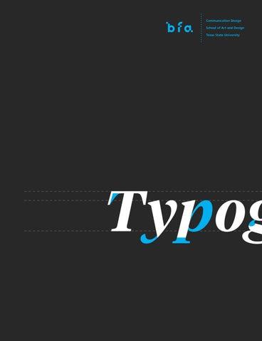 BFA Communication Design Type Catalogue by Thi N - issuu