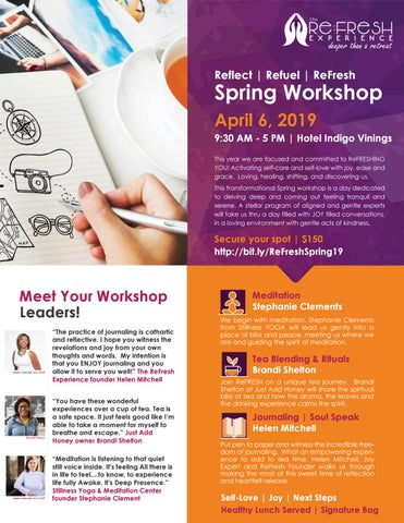 Page 2 of Reflect | Refuel | ReFresh at Our Spring Workshop