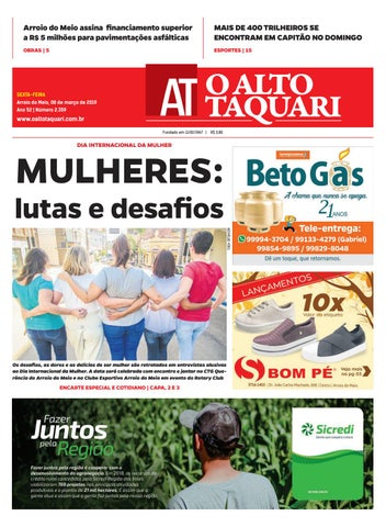 7271606467ac6 Jornal O Alto Taquari - 08 de março de 2019 by Jornal O Alto Taquari ...