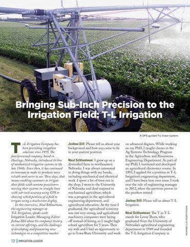 Page 12 of  Bringing Sub-Inch Precision to the Irrigation Field: T-L Irrigation