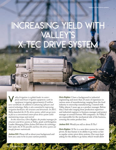 Page 18 of  Increasing Yield with Valley's X-Tec Drive System