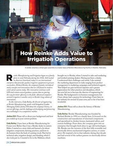 Page 24 of  How Reinke Adds Value to Irrigation Operations