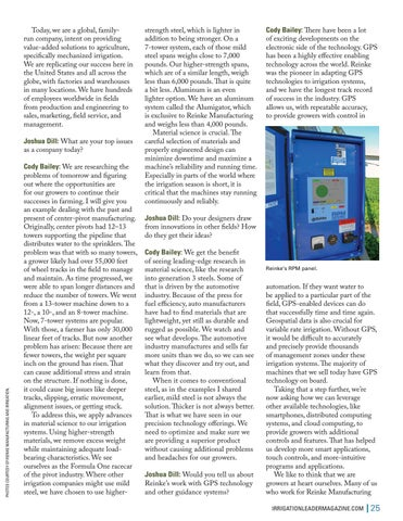 Page 25 of  How Reinke Adds Value to Irrigation Operations