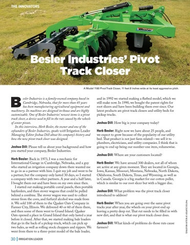 Page 30 of Besler Industries' Pivot Track Closer