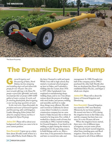 Page 34 of The Dynamic Dyna Flo Pump