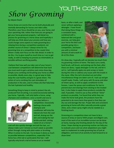 Page 11 of Youth Corner - Show Grooming