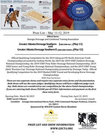 Page 20 of Greater Atlanta Dressage Southern I & II