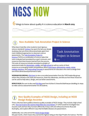 NGSS Now March 2019 by Achieve, Inc  - issuu