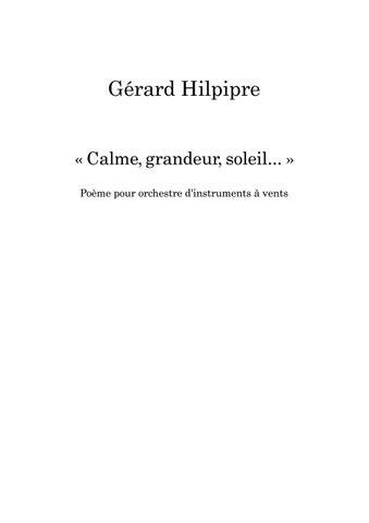 Hilpipre Gérard Calme Grandeur Soleil Poème Pour