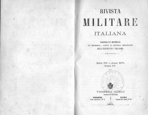 RIVISTA MILITARE 1871 TOMO IV by Biblioteca Militare issuu