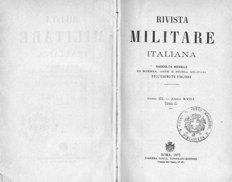 eab86f7d3b RIVISTA MILITARE 1873 TOMO II by Biblioteca Militare - issuu
