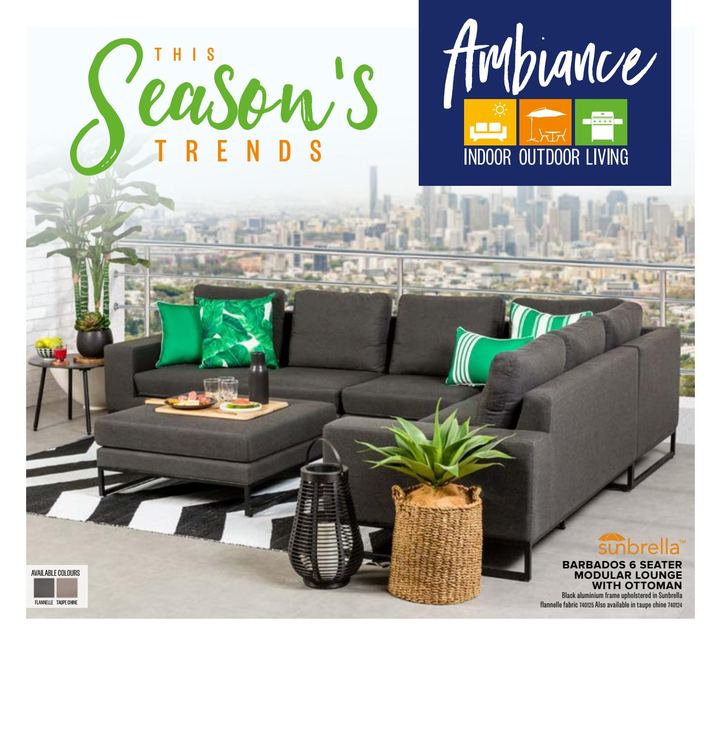 Ambiance Indoor Outdoor Living Outdoor Furniture Catalogue