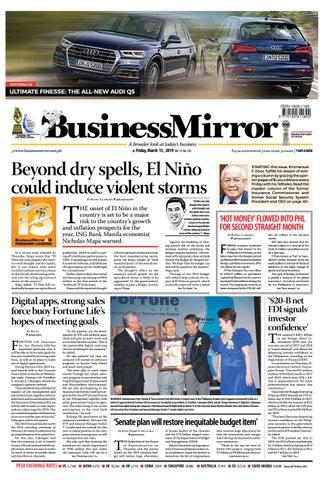 Businessmirror March 15, 2019 by BusinessMirror - issuu