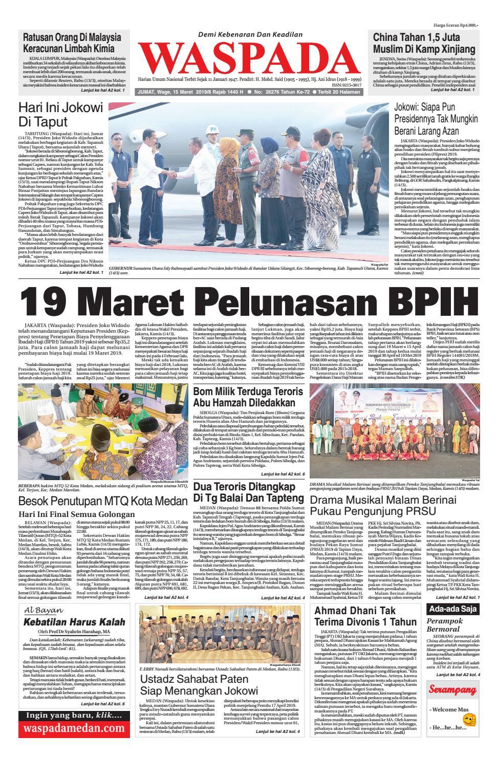 Waspada Jumat 15 Maret 2019 by Harian Waspada issuu