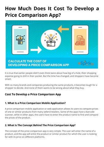 The process and cost of developing a Price Comparison App by