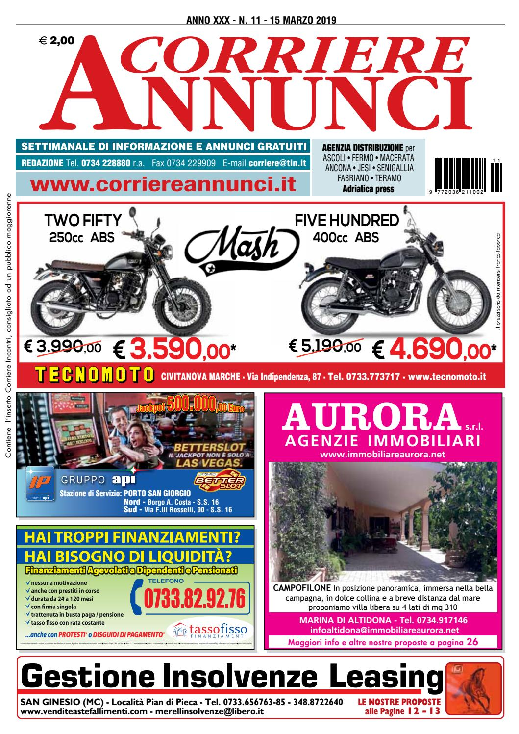 7af56296a2 Corriere 11-2019 by Corriere Annunci - issuu