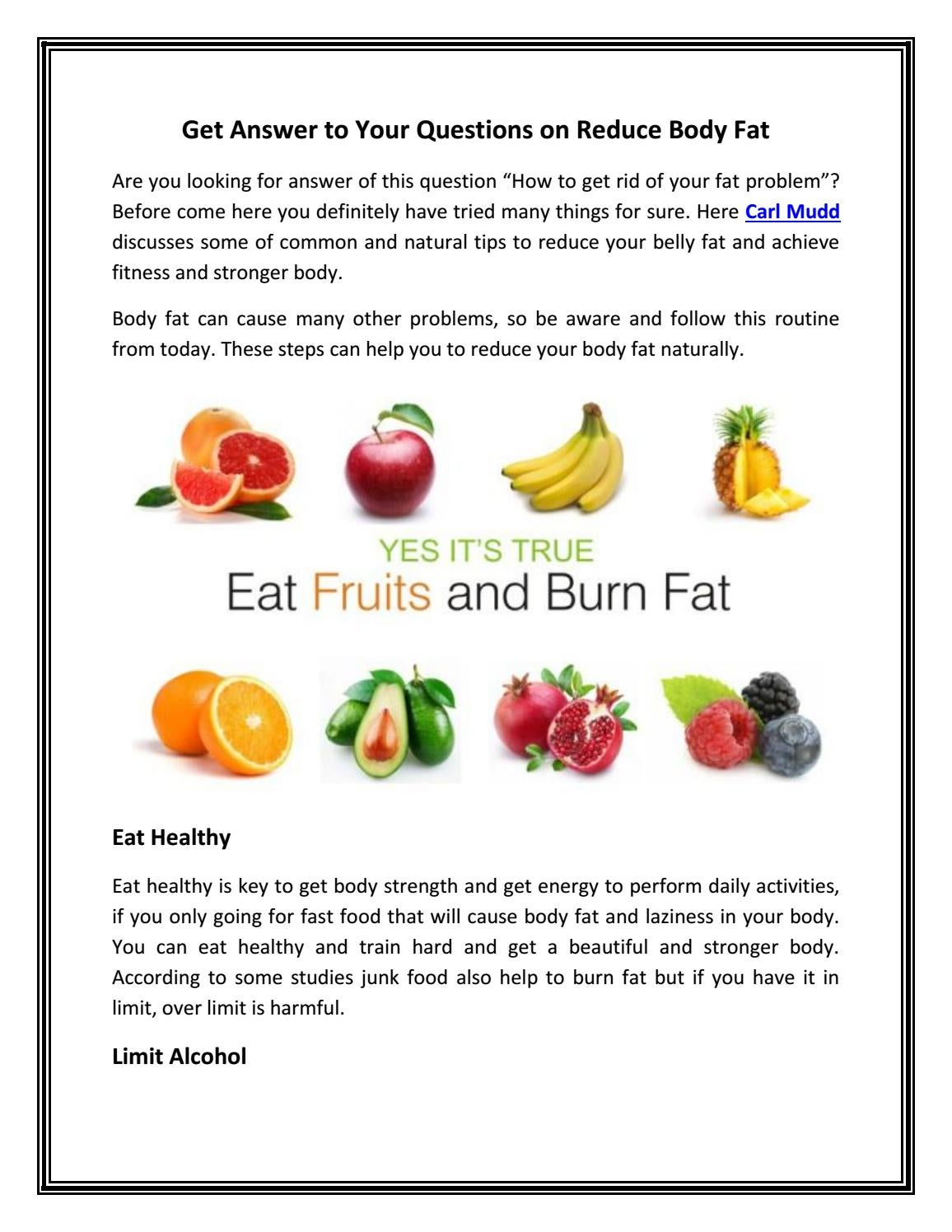 Get Answer to Your Questions on Reduce Body Fat by carlmuddus - issuu