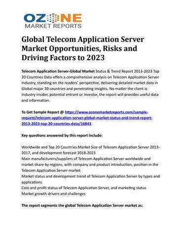 Global Telecom Application Server Market Opportunities