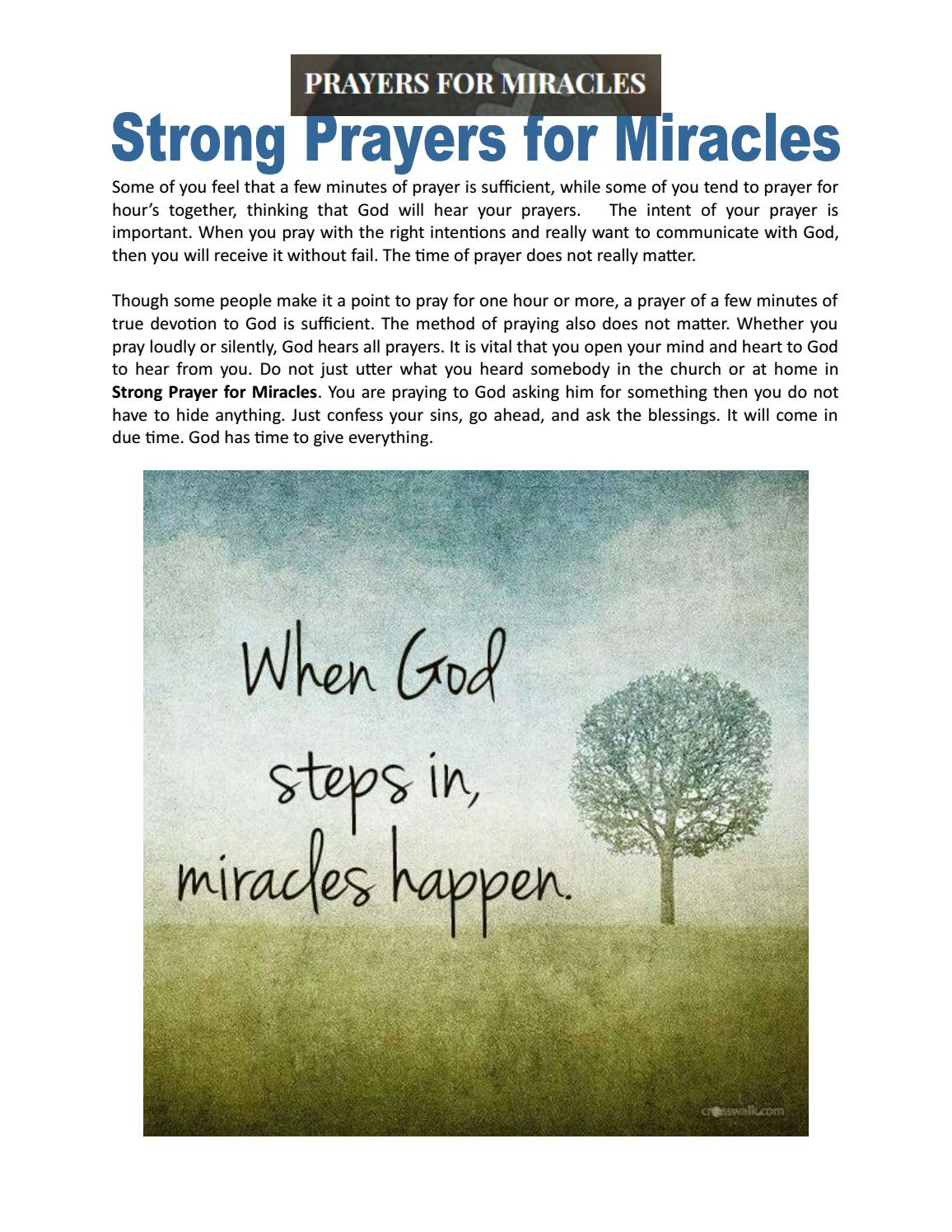 Strong Prayers for Miracles by Prayers for Miracles - issuu