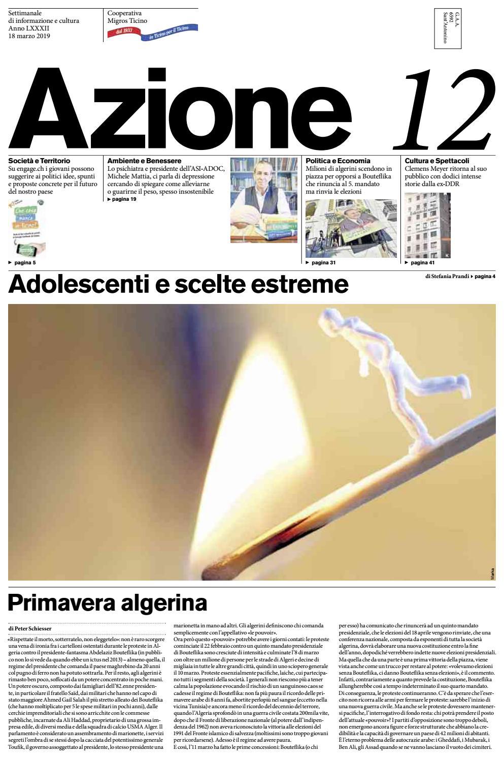 1f1019fc3c761b Azione 12 del 18 marzo 2019 by Azione, Settimanale di Migros Ticino - issuu