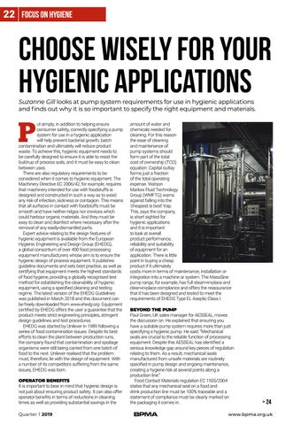 Page 22 of Choose wisely for your hygienic applications