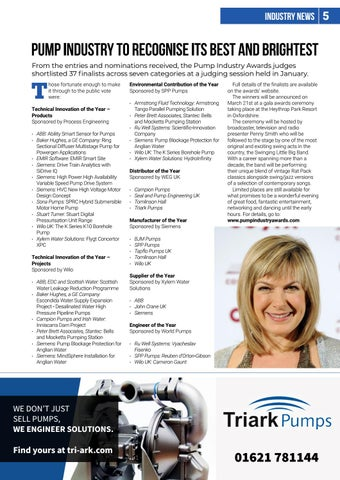 Page 5 of Pump Industry Awards Finalists Announced