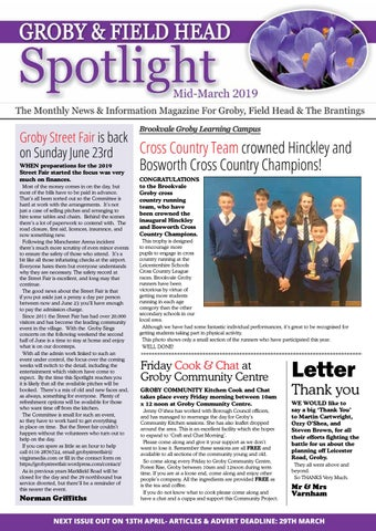 Mid-March 2019 issue of Groby Spotlight Magazine by Michael