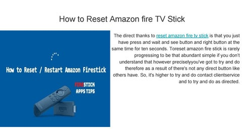 how to reset fire stick by kuntibilwal - issuu