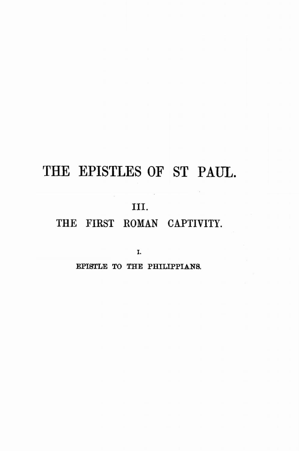 Joseph Barber Lightfoot [1828 1889] Saint Paul s Epistle to