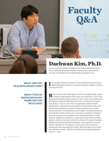 Page 32 of Faculty Q&A | Daehwan Kim, Ph.D.