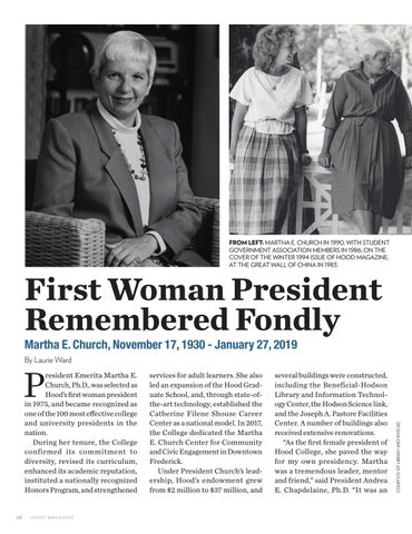 Page 48 of First Woman President Remembered Fondly