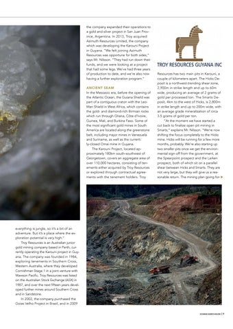 Page 9 of Troy Resources Guyana