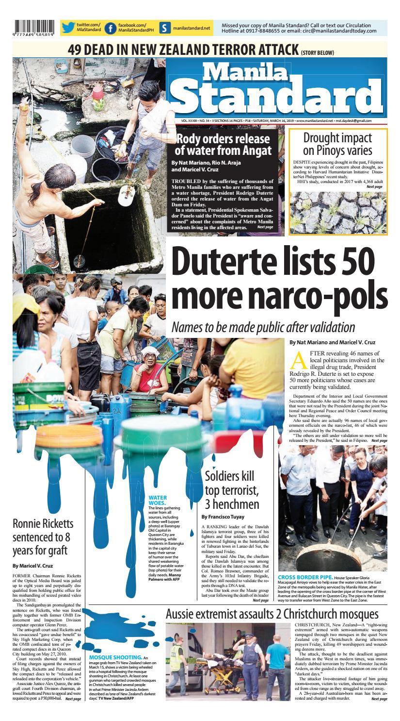 Manila Standard - 2019 March 16 - Saturday by Manila Standard - issuu