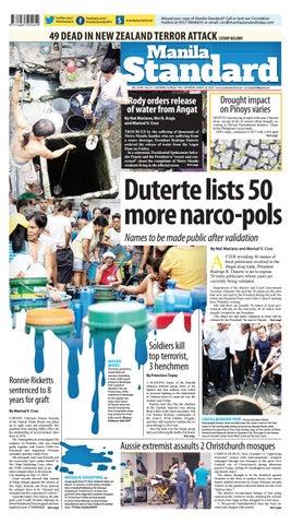 b26b6f130c1 Manila Standard - 2019 March 16 - Saturday by Manila Standard - issuu