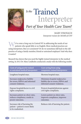 Page 16 of Is the Trained Interpreter Part of Your Health Care Team?