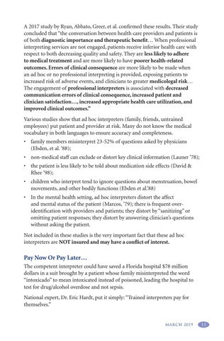 Page 17 of Is the Trained Interpreter Part of Your Health Care Team?