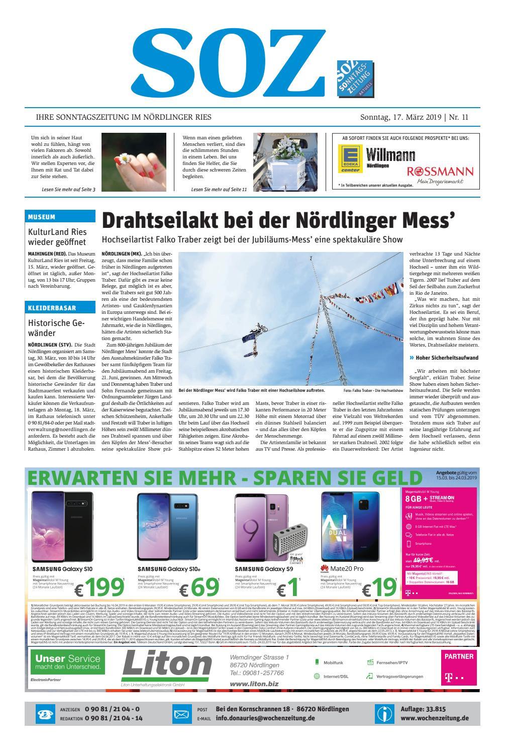 e84b78a3a1c061 SonntagsZeitung Nördlingen KW 11.19 by WochenZeitung   SonntagsZeitung -  issuu