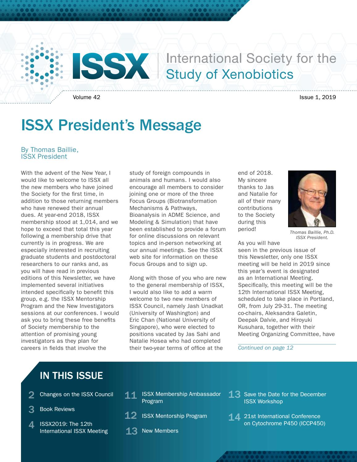ISSX Newsletter | Issue 1, 2019 by ISSX - issuu