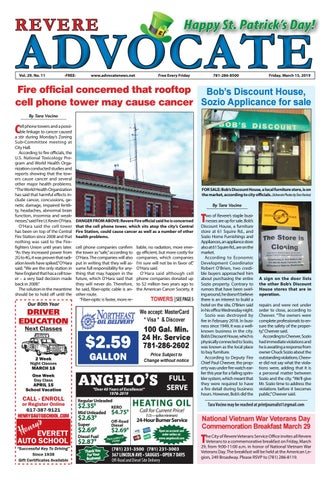 THE REVERE ADVOCATE - Friday, March 15, 2019 by Mike Kurov