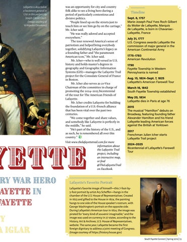 Page 15 of Lafayette: Revolutionary War Hero Put the FAYETTE in SOUTH FAYETTE