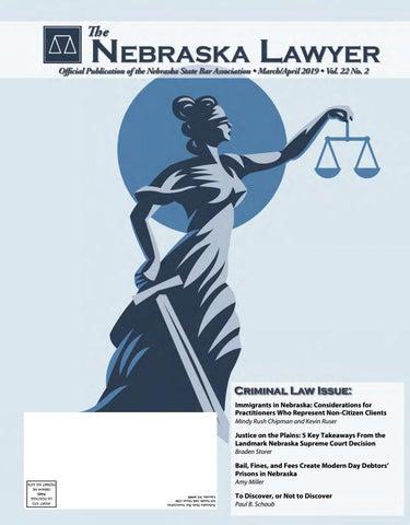 The Nebraska Lawyer Magazine March April 2019 By Elisa Oria