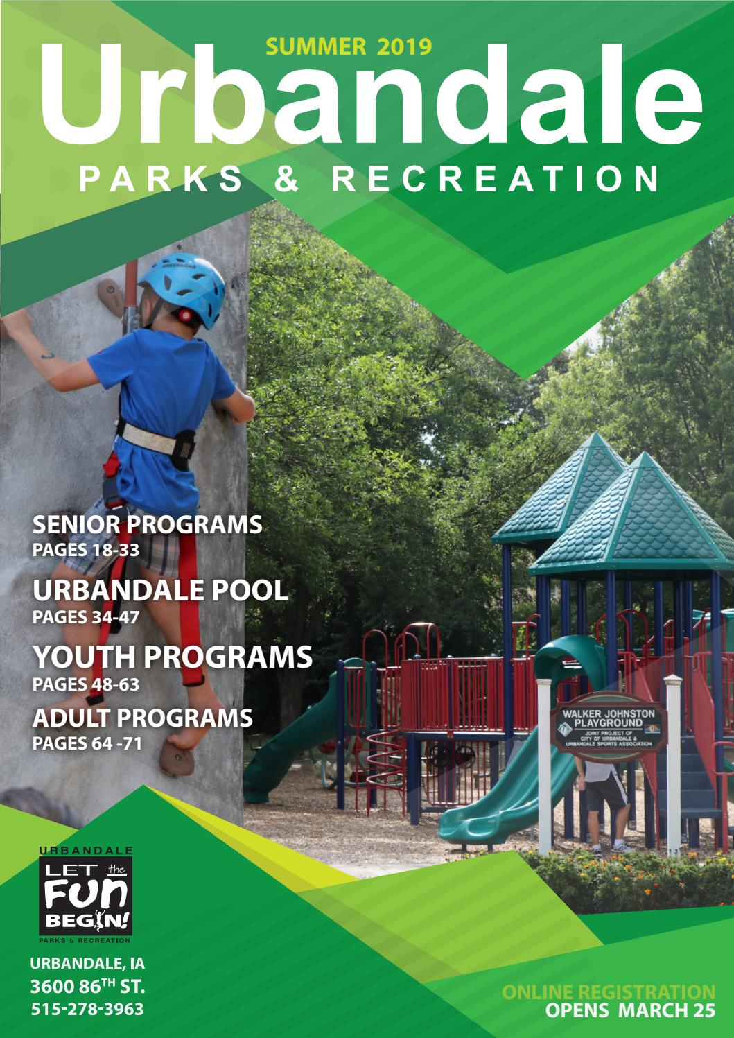 2019 Summer Program Guide by Urbandale Parks and Recreation
