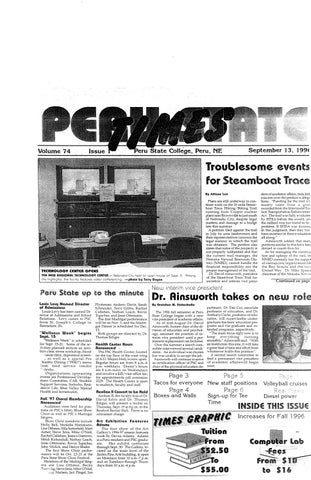 1996 1997 The Times Peru NE Issues 1 14 By Peru State