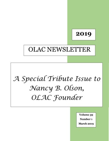 OLAC March 2019 Newsletter by OLAC Newsletter - issuu