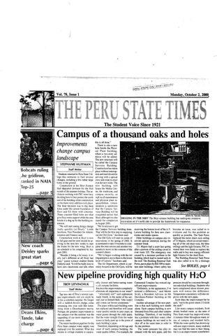 ad6b49f5 2000-2001 The Times (Peru, NE) - issues 1-9 by Peru State College ...