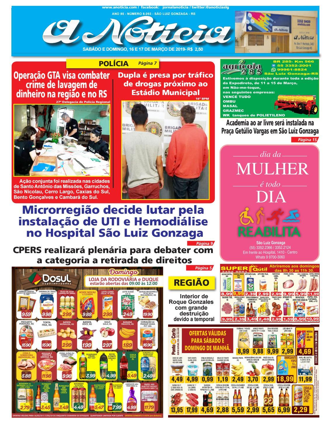 da7070b6c Edição do dia 16 e 17 de março by Jornal A Notícia - issuu